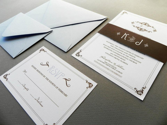 Kim & Miguel's Custom Wedding Invitation Suite